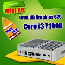 [7th Gen CPU] Eglobal Intel Core i3 7100U in Mini PC Windows 10 Kaby Lake 2.4GHz HTPC Computer Intel HD Graphics 620 4K HDMI&VGA(China (Mainland))