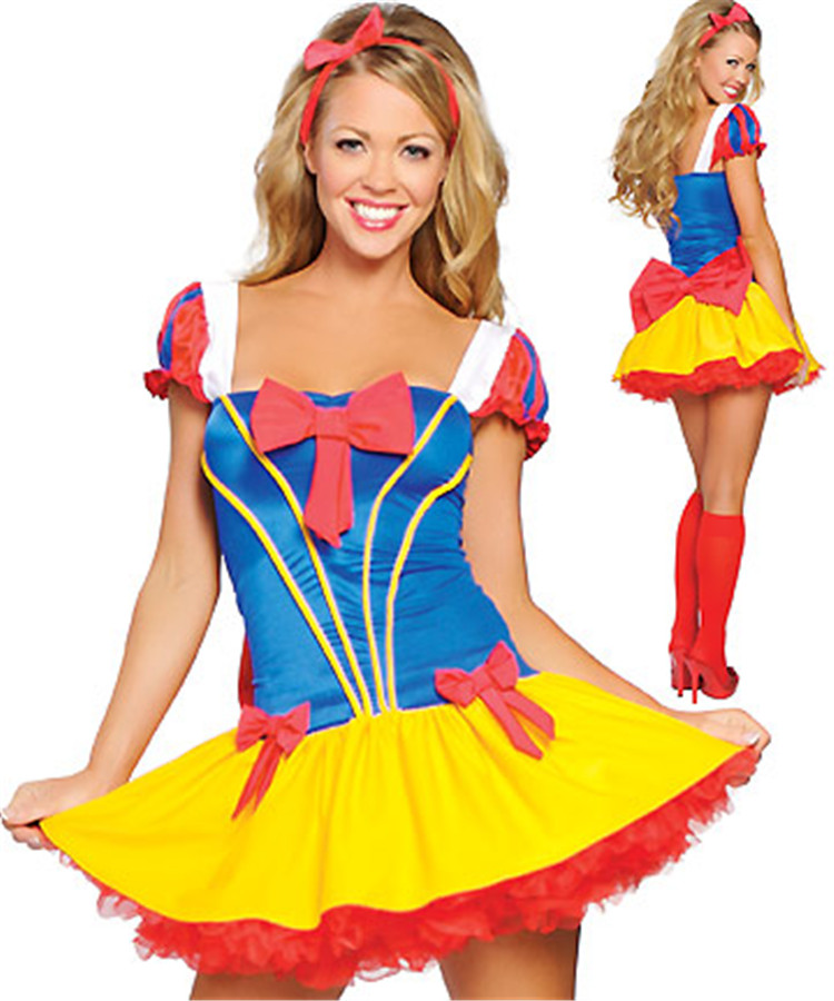 Halloween Costumes Women Adult Cinderella Dress Princess Belle Costume Female Snow White Fairy Tale One-Piece - Fashion Worldwide Clothing store