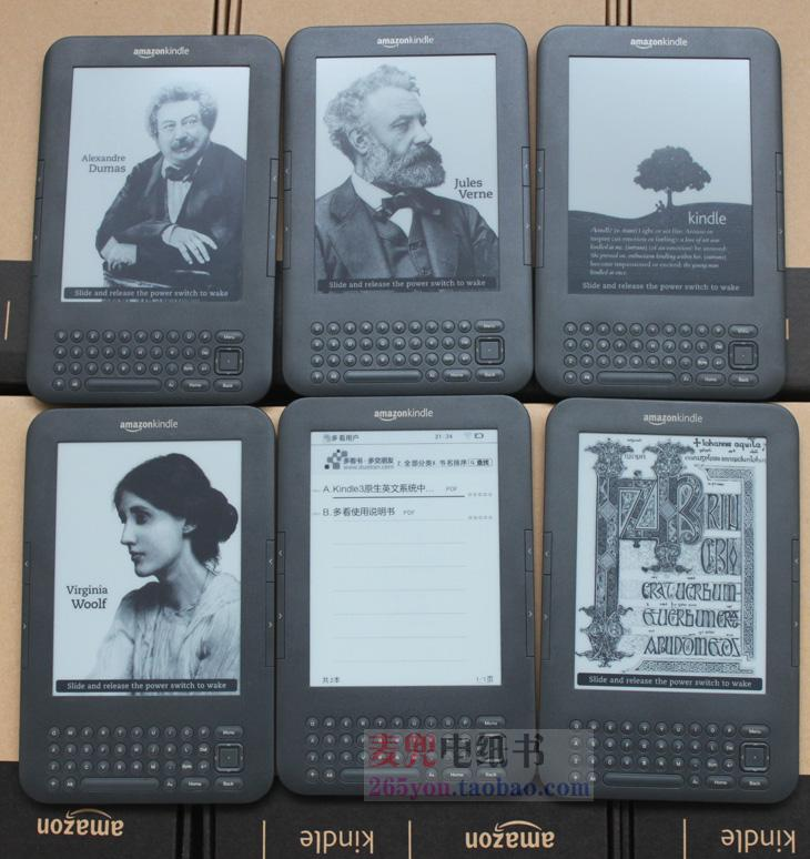 kindle 3 e-ink ebook reader keyboard ink screen 4GB e book pdf epub with mp3 ereader books have kobo in stock(China (Mainland))
