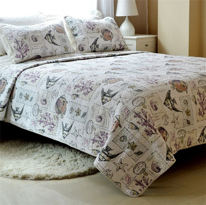 "Здесь можно купить  3pcs 230*230""Cotton Bedspread Art/Grids/Unique/Cool/Luxury Comforter Bedding Set Queen Quilted Bedcover,Pillowcase*2  Дом и Сад"