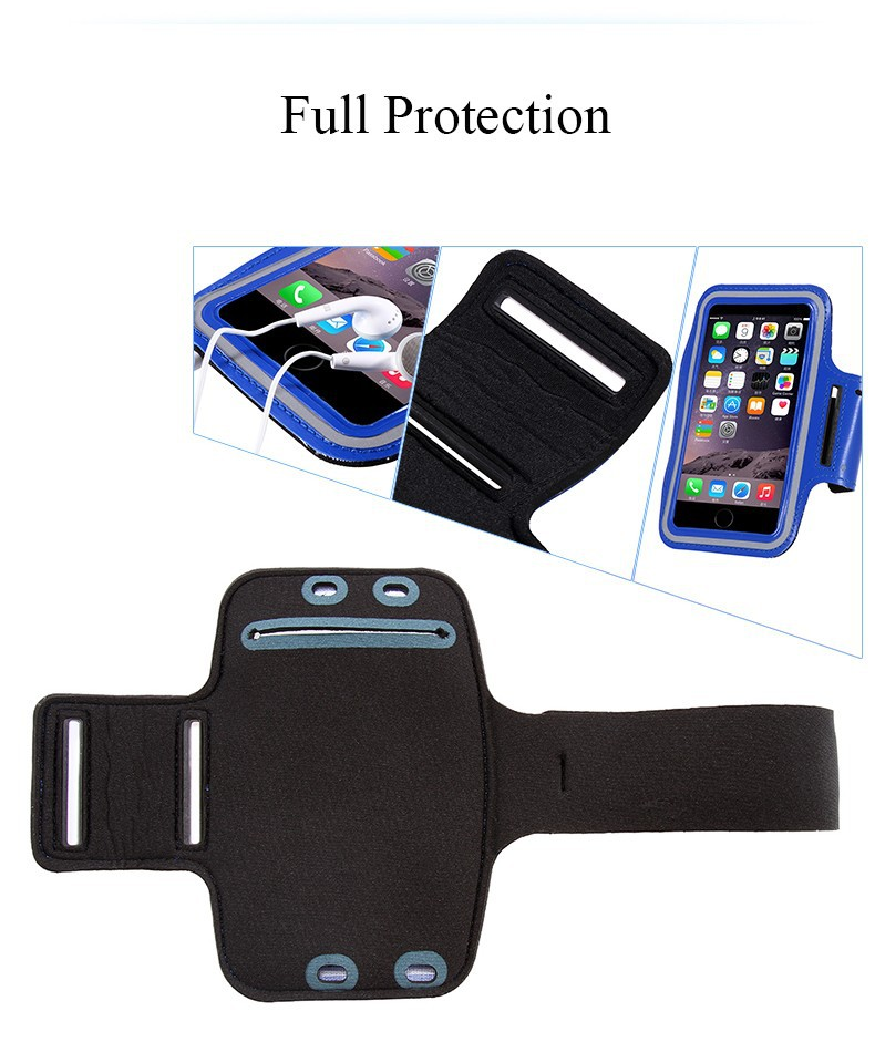 Waterproof Sports Running Armband Leather Case For Apple iPhone 7/6/6S Cell Mobile Phone Arm Bag Band Fashion Holder