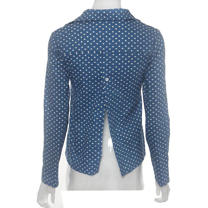 Улучшенный женщины с длинными рукавами блузка топы sep21