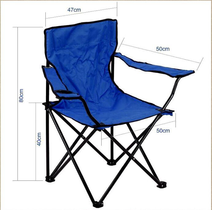 2015 New Arrival camping chair Metal Iron Beach Chairs Folding Chair in Foldi