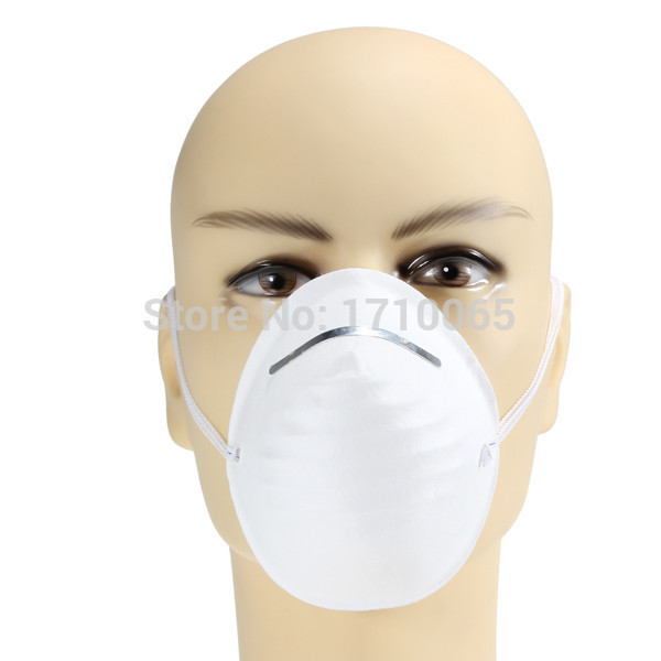 100pcs Disposable Anti Dust Pollen Cement Face Mask Mouth Antidust Filter Medical Safety Respirator Adjustable Nose piece(China (Mainland))