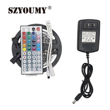 Buy SZYOUMY LED Strip 5050 IP20 DC12V 30LEDs/m Flexible LED Light RGB 5050 Strip LED Tape Home Decoration+Controller+2A Power for $12.50 in AliExpress store