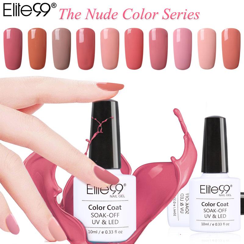Elite99 Gel Polish Varnish UV LED Nude Color Series UV Gel Base Top Coat UV Lamp Nail Art Design Hot Sale Nail Gel Lacquer(China (Mainland))