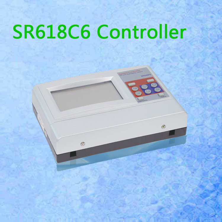 12 Systems SR618C6 Solar Radiation Controller fo Solar Split System with 2 pt1000 and 5 NTC10k Sensors two delt T Free Shipping(China (Mainland))