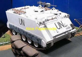 [Alice papermodel] Long 28CM US armored vehicle M113A1 car tank army models