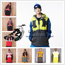 13/14 new ski jackets,snowboard clothes,Mens/women's snowboarding skiing jacket Outdoor Sports Waterproof Windproof Breathable(China (Mainland))