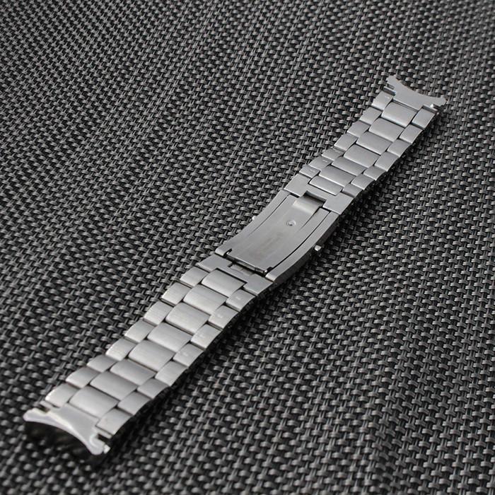 Массив Из Нержавеющей стали Ремешок Для Часов металл ремешок браслет смотреть Развертывания пряжка 20 мм 22 мм