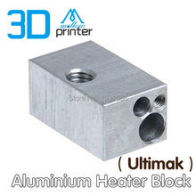 5PCS 3D Printer Accessories Aluminium Heater Block For Ultimaker Extruder Hot End 25 15 12mm
