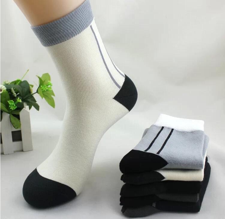 Christmas gift!40G ARRIVAL Fashion brand long socks men sport cotton,5pair/lot Business leisure socks men cotton winter(China (Mainland))