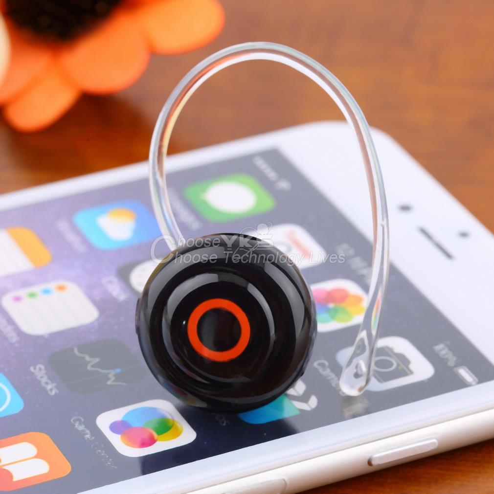 Smallest Music Phone Calls Hands free Stereo Bluetooth Mini Earphone Headset YKS