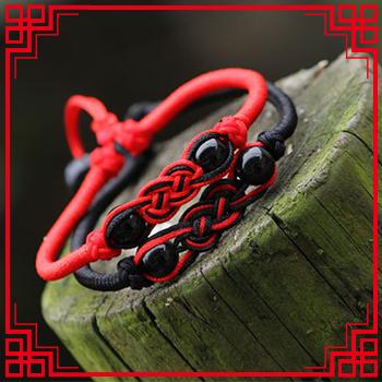 Ручной ювелирные изделия - китайские узлы традиционный ткать нить браслет и браслет, ...