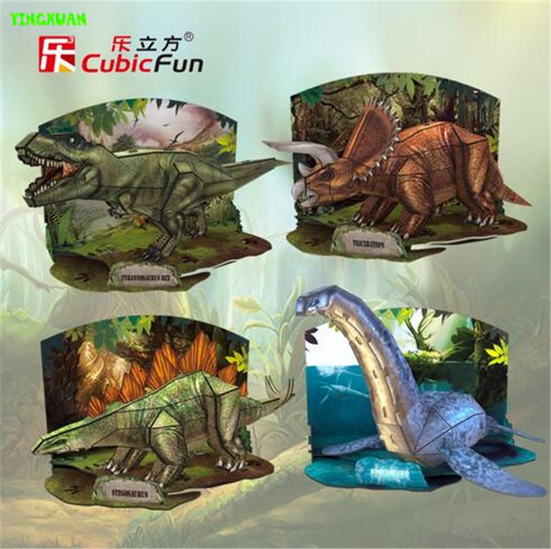 Cubic fun 3D stereo model dinosaur Tyrannosaurus Rex Long Jianlong Educational Toys for Children's gifts(China (Mainland))