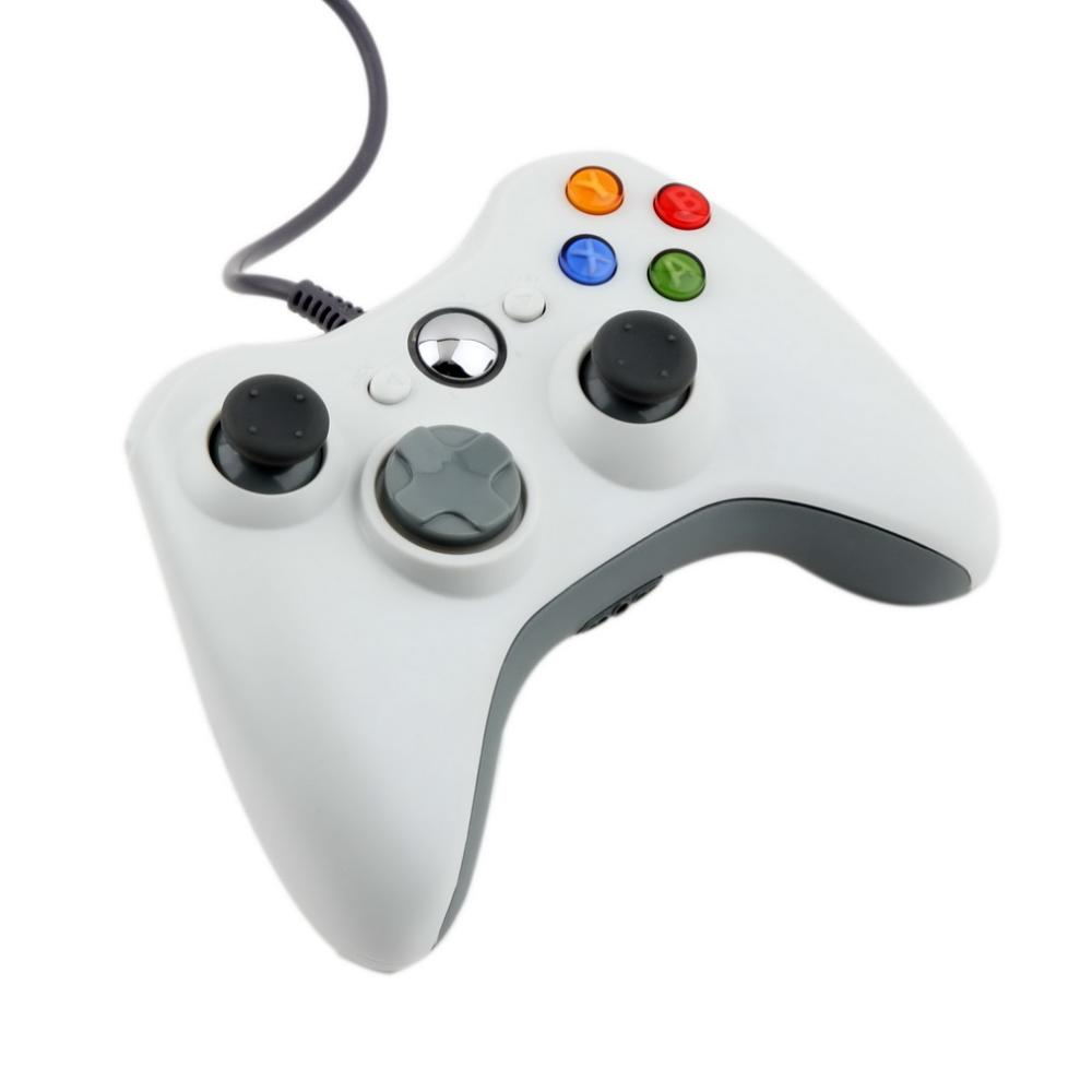image for 1pc USB Wired Joypad Gamepad White Controller For Microsoft For Xbox &