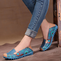 New 2016 women genuine leather shoes slip on ballet women flats print woman shoes 4 colors