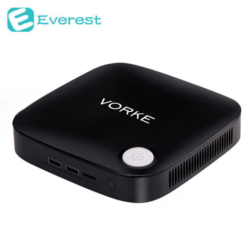 Vorke V1 Windows 10 Mini PC TV Box Intel Braswell Celeron J3160 1.6GHz 4GB RAM 64GB SSD 802.11AC Bluetooth4.0 HDMI&VGA USB3.0(China (Mainland))