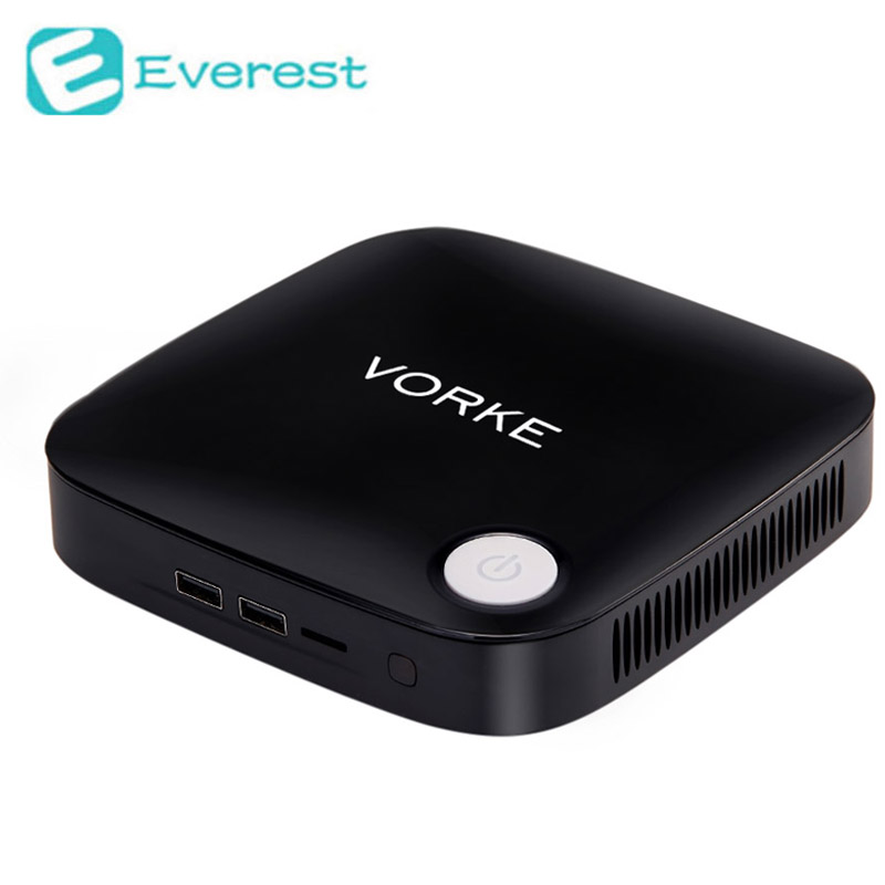 Vorke V1 Windows 10 Mini PC TV Box Intel Braswell Celeron J3160 1.6GHz 4GB RAM 64GB SSD 802.11AC Bluetooth4.0 HDMI&VGA USB3.0(China (Mainland))