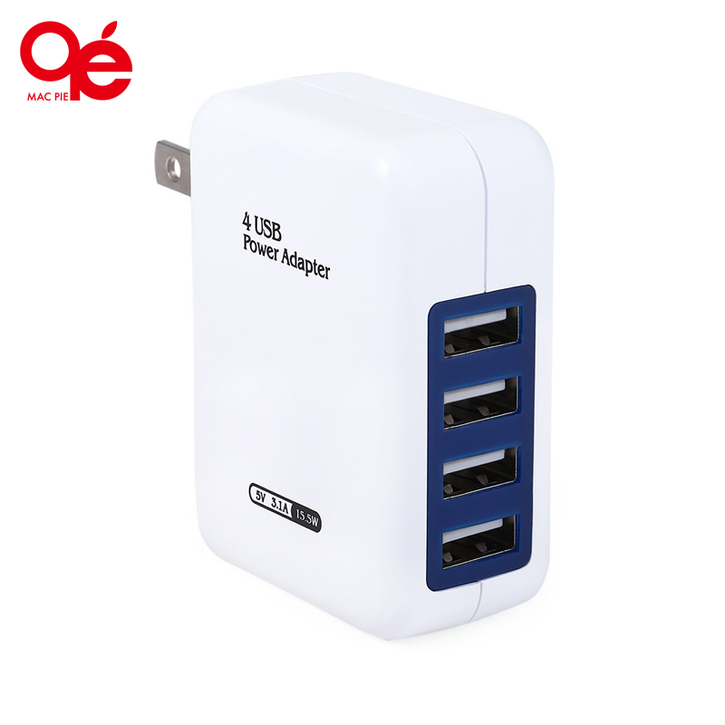 Practical Universal 4 USB Ports Home Wall Power Supply Adapter Charger Fast Charging Efficiency for Universal Cellphone Table(China (Mainland))