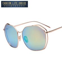 Buy Fashion Eye Sunglasses Women Brand Designer Vintage Coating Mirrored Sun Glasses Gafas Oculos De Sol Feminino box for $8.75 in AliExpress store