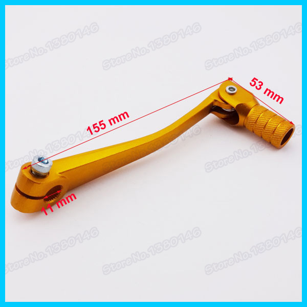 Golden Aluminum Folding Gear Shifter Shift Lever For 50cc 110cc 125cc 140cc Pit Dirt Bike Atv Quad Motorcycle(China (Mainland))