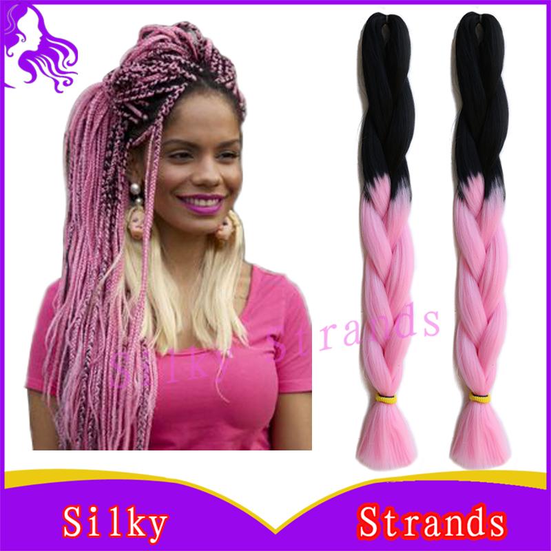 Гаджет  Xpressions Ombre Kanekalon Jumbo Braiding Hair Colors 24