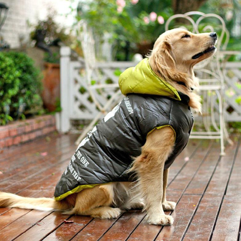 Large Dog Clothes Warm Winter Windproof Dog Jacket Big Golden Retriever Coat Size S M L XL(China (Mainland))