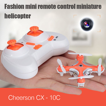 Cheerson CX - 10C CX-10C CX10C Mini 2.4G 4CH 6 Axis Gyro RC helicopter Quadcopter drone with 0.3MP Camera Remote Control Toys(China (Mainland))