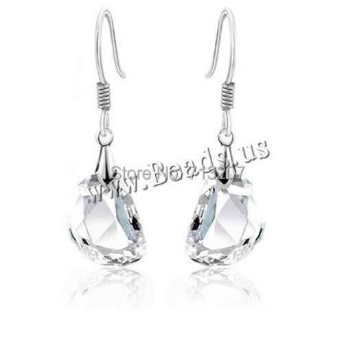 Free shipping!!!Crystal Earrings,Female Jewelry, Zinc Alloy, with Crystal, brass earring hook, platinum color plated, faceted