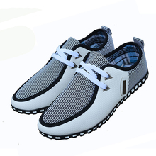 2016 Spring And Autumn high quality man shoes fashion Flats Lacing canvas shoe men breathable pu casual shoes Plus size 39-46(China (Mainland))