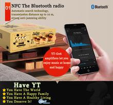 AC220~240V/DC12V In 2x50W Bluetooth Amplifiers HIFI Home Audio Amplifier Wireless SD/USB/MP3 Player FM Radio dac Stereo