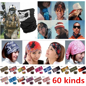 Outdoor Sports Bicycle Riding Cycling Veil Multi Face Bandana Skull Scarves Wicking Seamless Head Scarf Cycling Caps(China (Mainland))