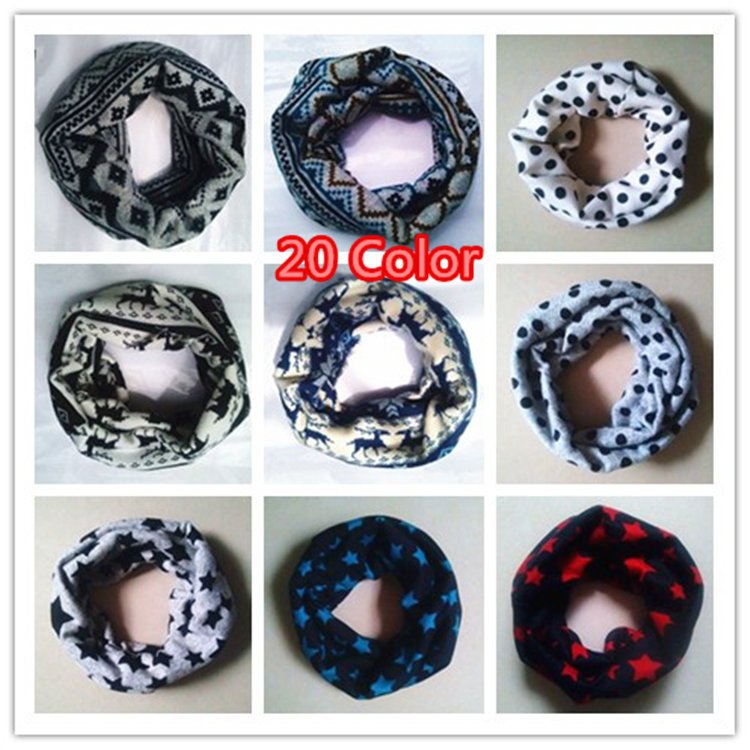 2015 New Children Comfortable soft cotton Scarf Loop Kids Cubs Infinity Scarves Baby Accessories Free Shipping