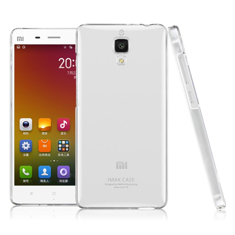Original IMAK Clear Hard Case for Xiaomi Mi4 Mi 4 Transparent Back Skin Protective Phone bags cases(Hong Kong)
