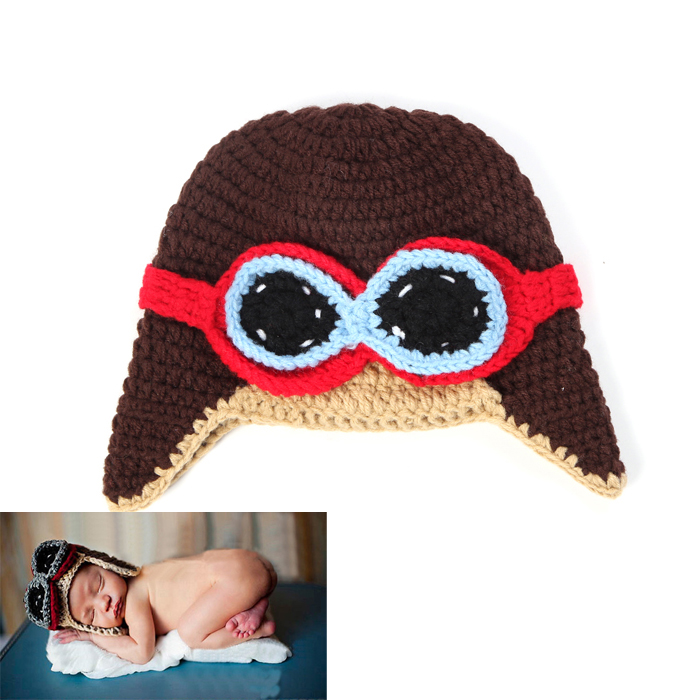 Free Shipping! New Fashion Helmet Design Children Baby Crochet Photography Props Infant Nursling Beanies&Caps 5pcs/lot MZS-14030(China (Mainland))