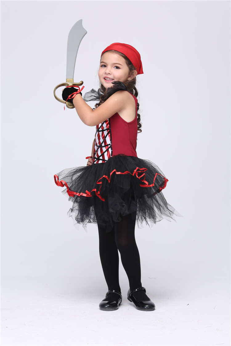 hot halloween costume for kids pirate girl anime cosplay carnival