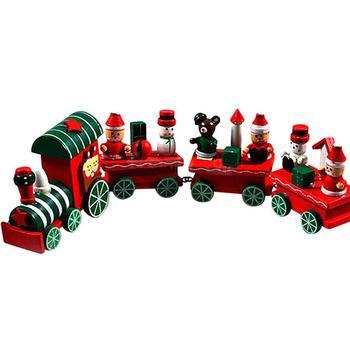 Горячая распродажа новый! Прибытия мода 4 шт. дерево рождественские рождество поезд украшения декора подарок