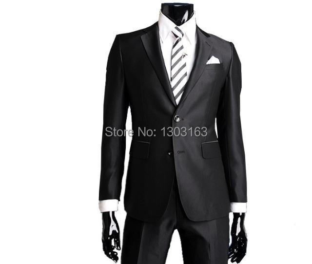 2014 Year Fashion Design custom made groom tuxedos Shawl Collar stain mans wedding suit Men Suits prom suits free shippingОдежда и ак�е��уары<br><br><br>Aliexpress