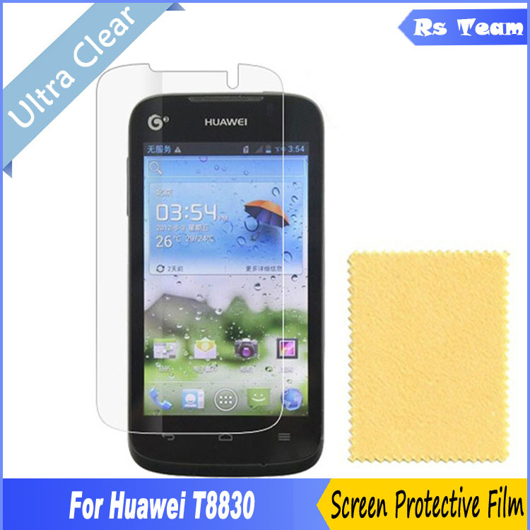 100pcs HD Clear Front Screen Protector For Huawei G309T G309 8830 Display Screen Guard Film For Huawei T8830 Protective Film(China (Mainland))