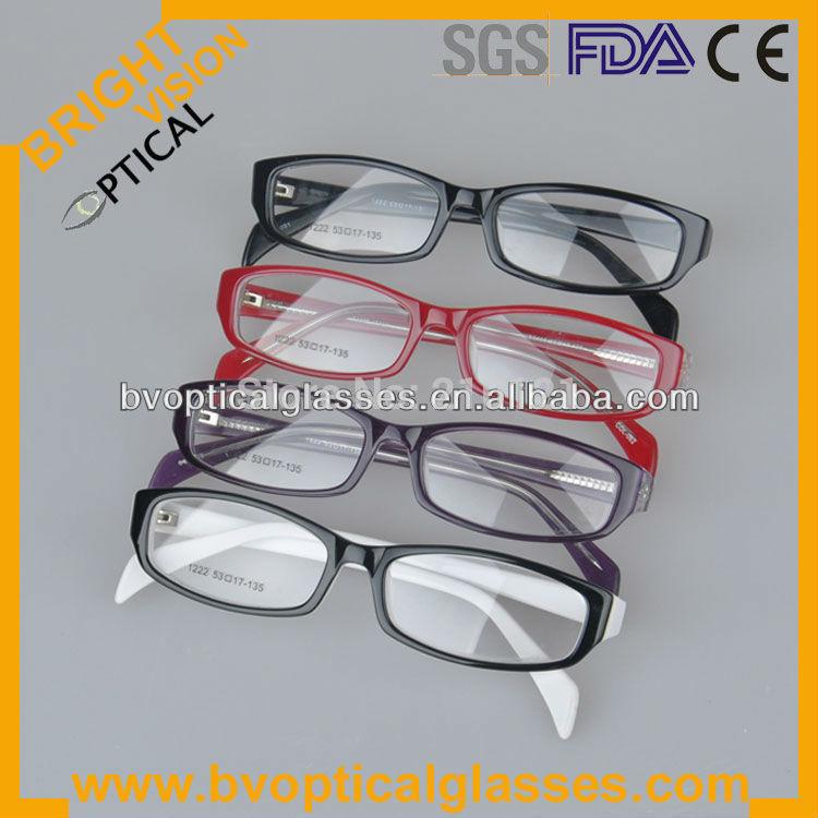#1222 Most fashion design full rim middle size acetate prescription eyewear in stock optical eyeglasses frame(China (Mainland))