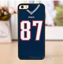 rob gronkowski jersey 4 original cell phone case cover for iphone 4 4s 5 5s se 5c 6 6 plus 6s 6s plus 7 7 plus *gG158(China (Mainland))