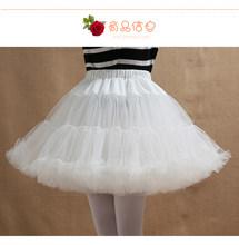Платье Лолиты для девочек, белое нижнее белье для женщин, белое короткое нижнее белье, бальное платье, пышная юбка, Нижняя юбка(China)