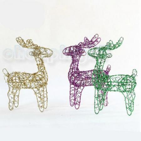 Hot-sale Holiday Indoor Ornament Shiny Vintage Gold Iron Reindeer Deer Christmas Gifts CG0124-GO(China (Mainland))