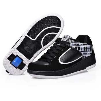 Новый мальчик Heelys обувь дети дышащий мода кроссовки скейт роликовые колеса обуви для маленького ребенка большой ребенок размер 29-43 горячая распродажа