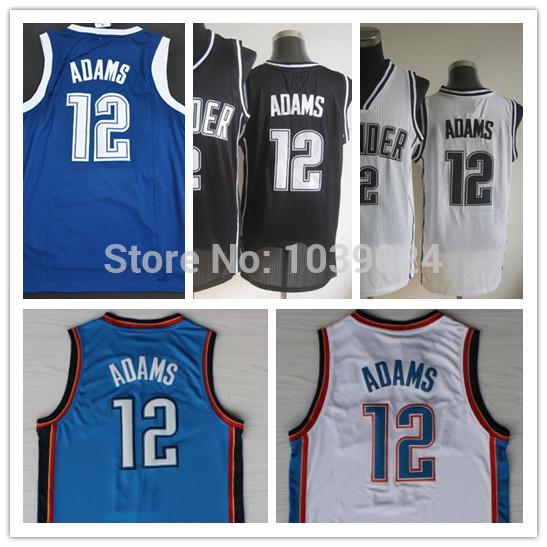 OKC #12 Steven Adams Jersey Royal Blue White Black Australia Steven Adams Singlets Navy Blue New Material Basketball Jersey Shop(China (Mainland))