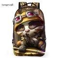 Longmiao Brand 2016 New League of Legends Game Unisex Teenagers Cartoon LOL Man Backpack High Quality