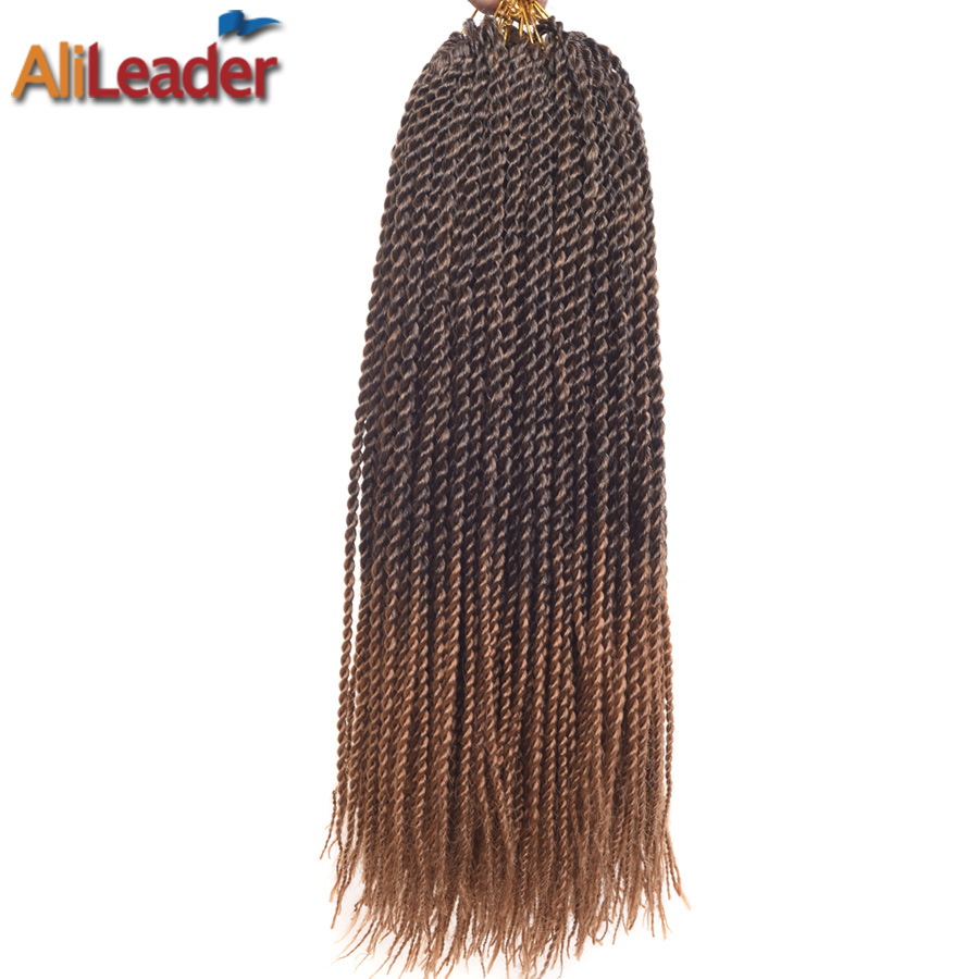 AliLeader Honey Blonde Kanekalon Braiding Hair Ombre Braid Extensions 18 Inch 30 Roots/Pack Crochet Braids Synthetic Hair Weave(China (Mainland))