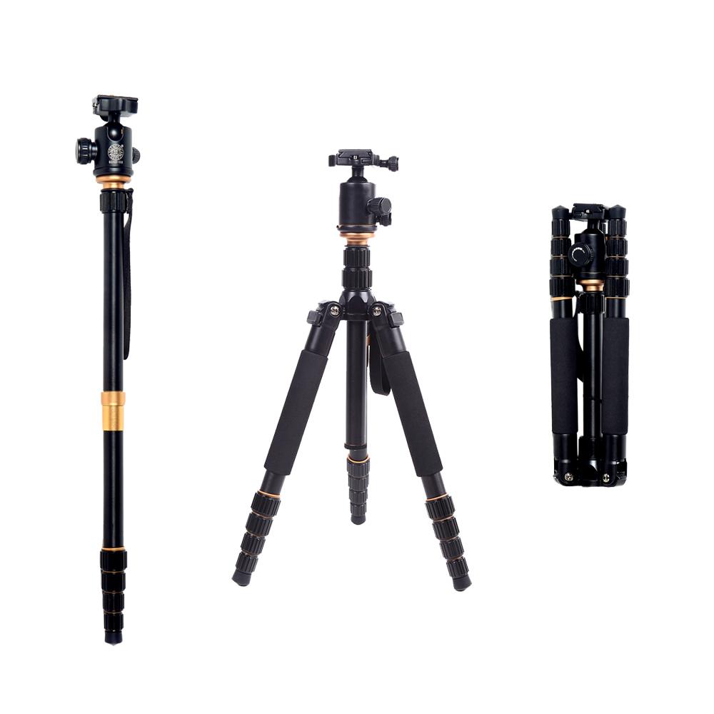 DE STOCK QZSD Q-666 Pro SLR Camera Tripod Monopod Changeable Traveling Tripod With Ball Head for Canon Nikon DSLR Cameras(China (Mainland))