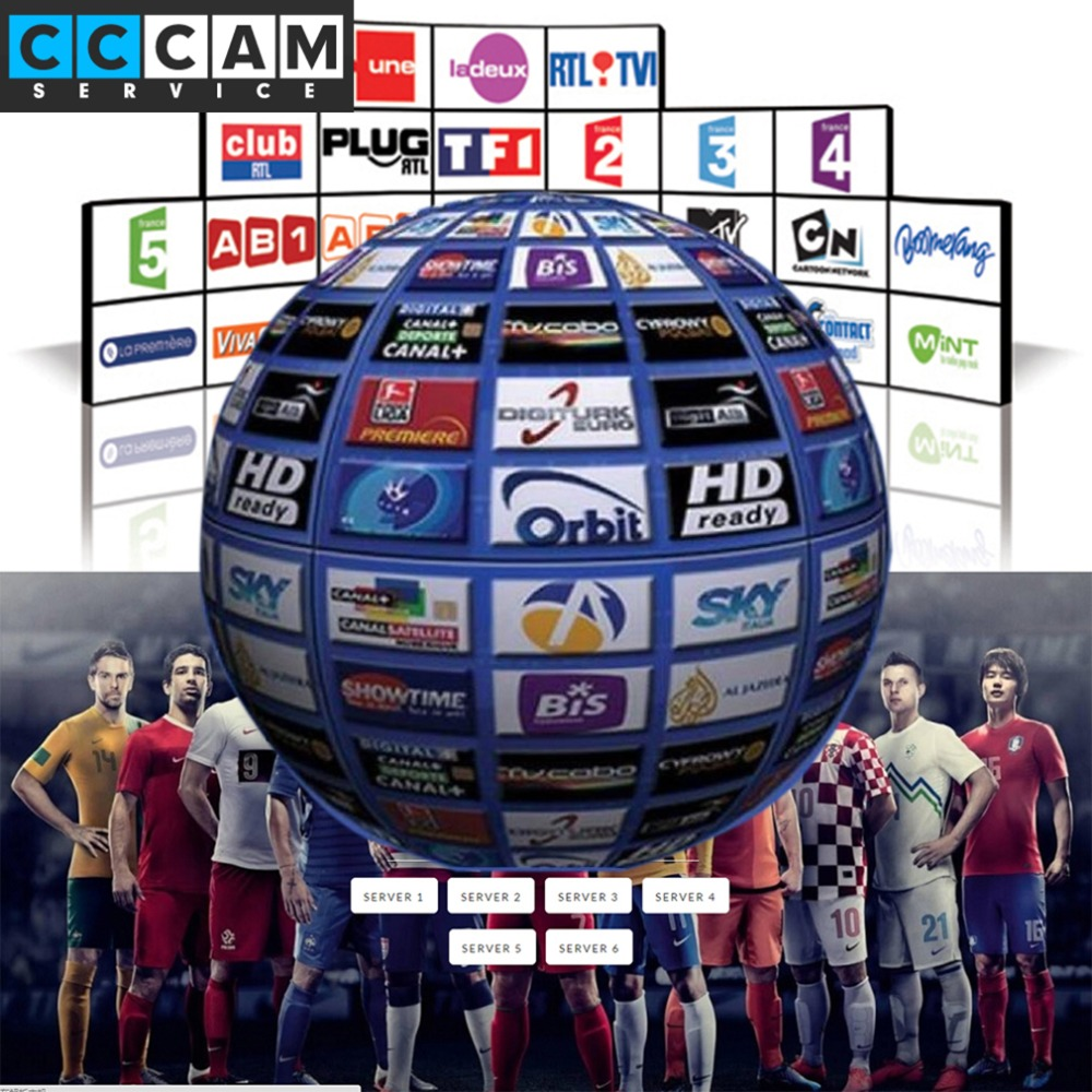 [Genuine] 1 Year Europe CCcam server 3 Cline Satellite Decoder TV Receiver Sky Sports UK Germany France Canal Italy Spain.etc(China (Mainland))